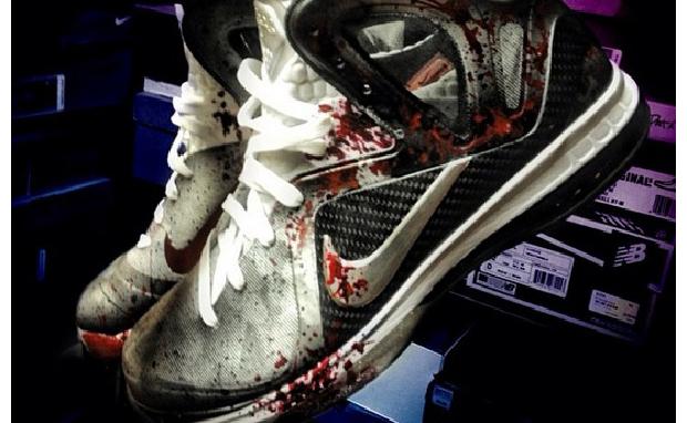"""Nike LeBron 9 PS Elite """"American Psycho"""" Custom"""