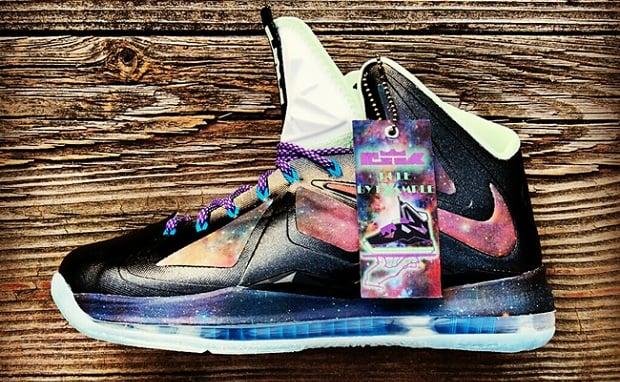 """Nike LeBron X """"King of Galaxy"""" Custom"""