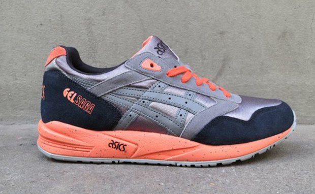 ASICS Gel Saga Grey/Orange   Nice Kicks