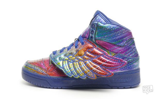 Jeremy Scott x adidas Wings Rainbow Hologram
