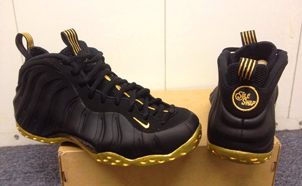 black and gold foamposites