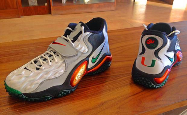 Nike Air Zoom Turf Jet Miami Hurricanes Custom