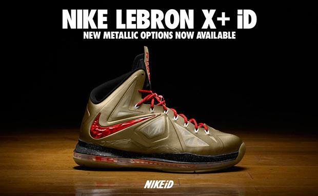 Nike LeBron X+ Metallic iD Options Available Now