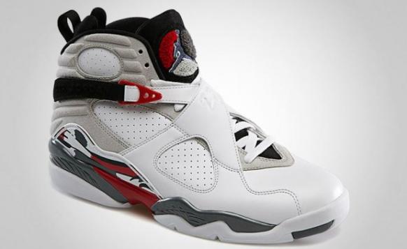 Air Jordan 8 White/True Red-Flint Grey