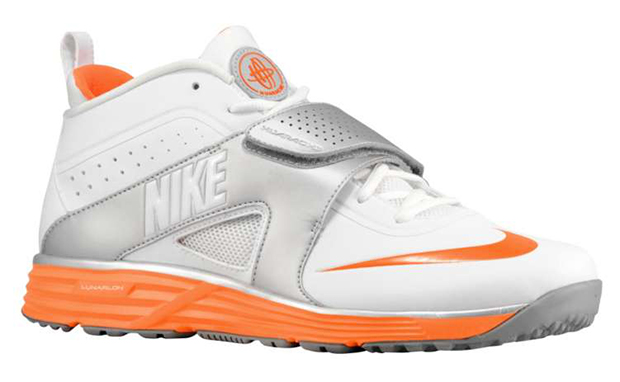 Nike Huarache Turf LAX White/Metallic Silver-Total Orange