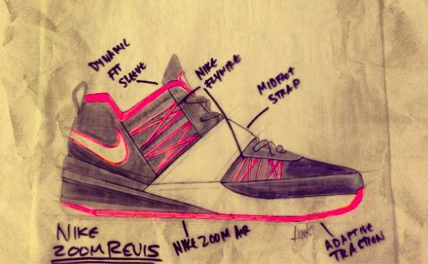 Nike Zoom Revis Design Sketches