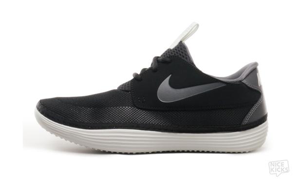Nike Solarsoft Moccasin Black/Dark Grey