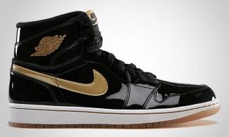 Air Jordan 1 Black/Metallic Gold 555088-019