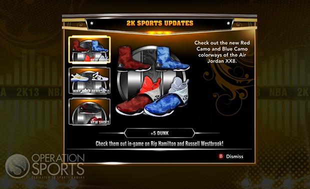 NBA 2K13 Adds New Sneaker Options