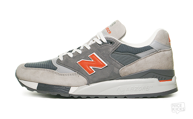 New Balance 998 Grey/Orange Available Now