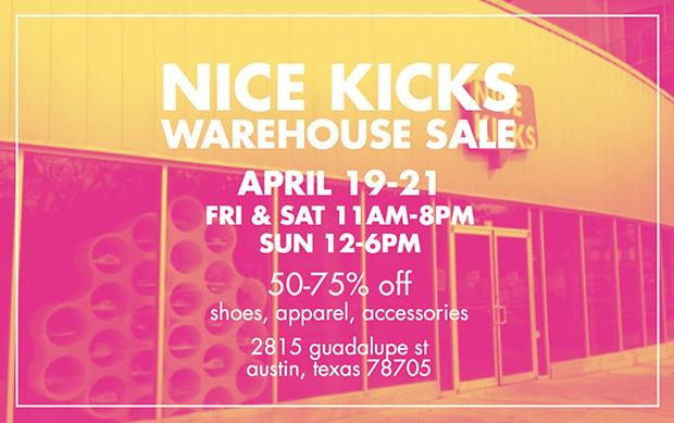 Nice Kicks Shop Warehouse Sale