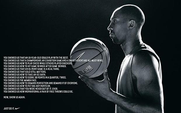 Nike Debuts New Kobe Bryant Ad in LA Times