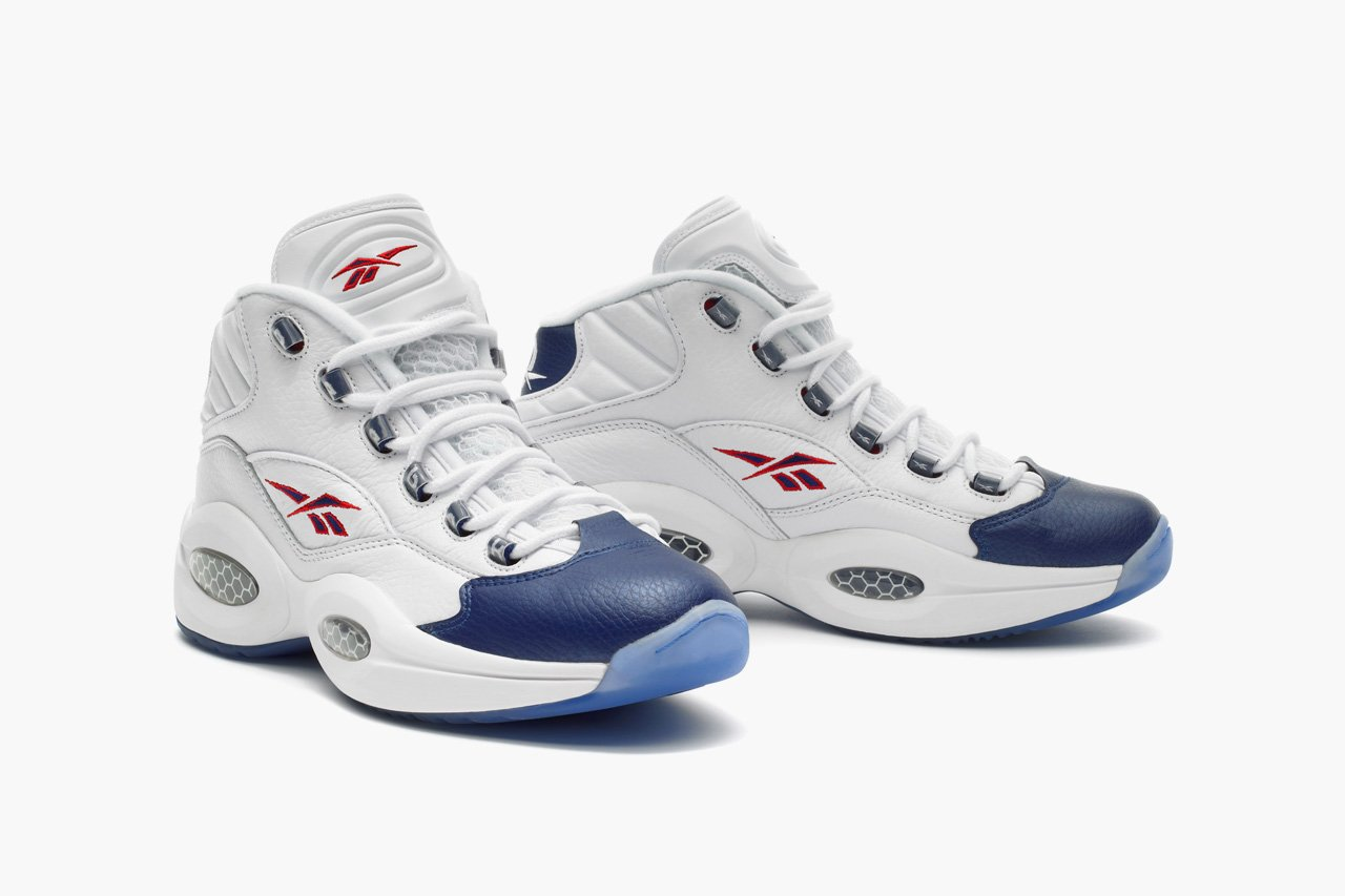 Reebok Question Mid White/Pearl Navy