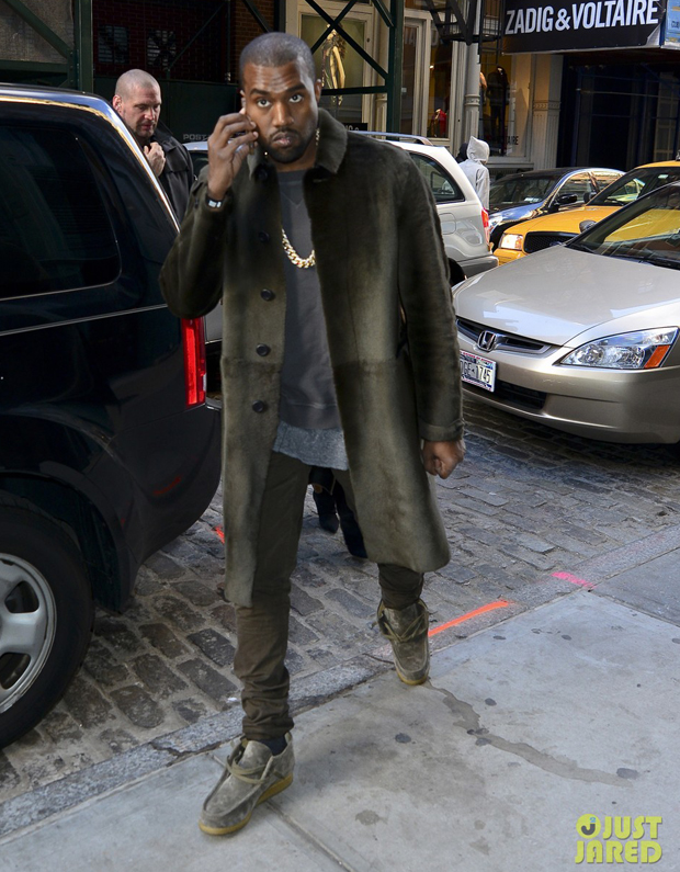 Kanye West in the Clarks Wallabee