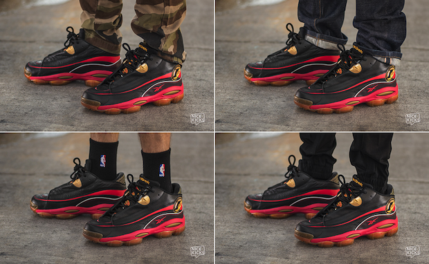 On-Foot Look: Reebok Answer I Black/Red-Gold | Nice Kicks