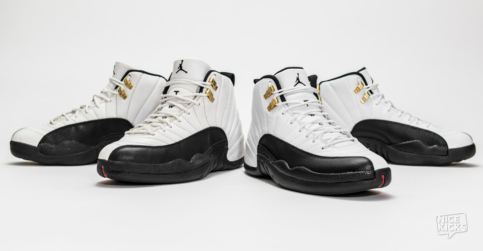 Air Jordan 12 Taxi Og 2013 Comparison Nice Kicks