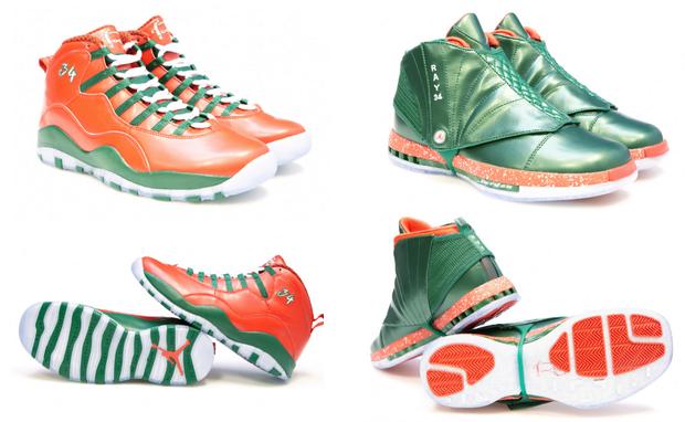 Ray Allen Christmas Jordans
