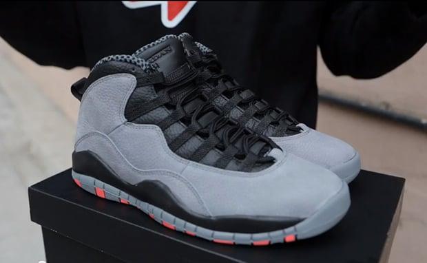 Air Jordan 10 Cool Grey/Infrared