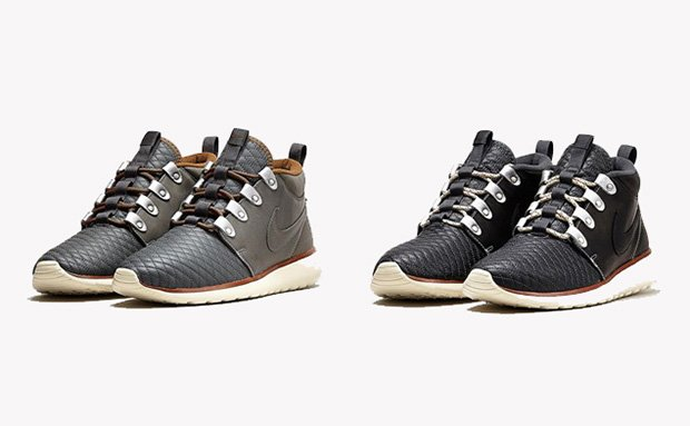nike roshe run sneakerboot premium leather pack