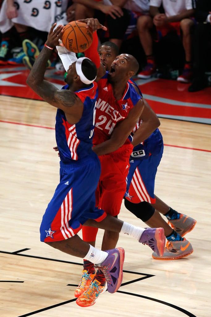 "Kobe Bryant in the Nike Kobe 8 ""Extraterrestrial"" (photo by Scott Halleran/Getty Images via Zimbio)"