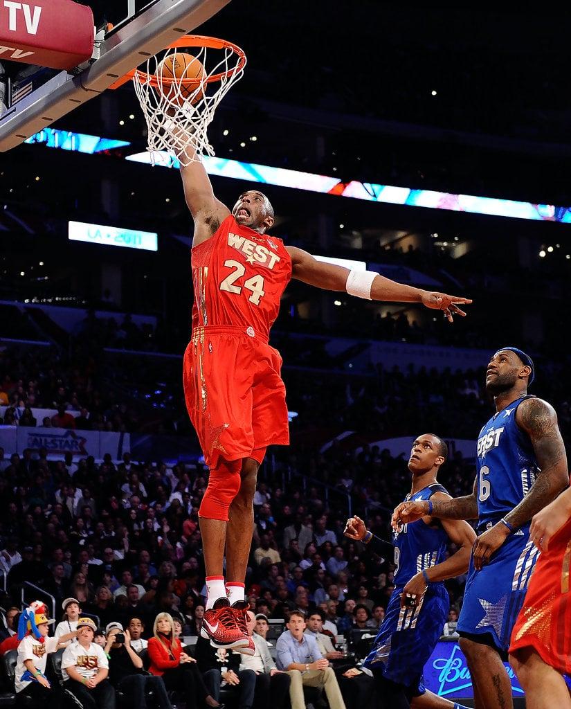 "Kobe Bryant in the Nike Zoom Kobe 6 ""All-Star"" (photo by Kevork Djansezian/Getty Images via Zimbio)"