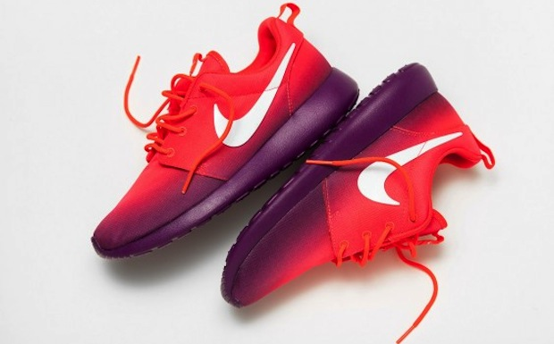 pink and purple roshe runs