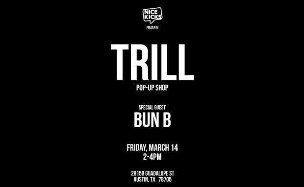 Bun B's Trill Pop-Up Shop at Nice Kicks