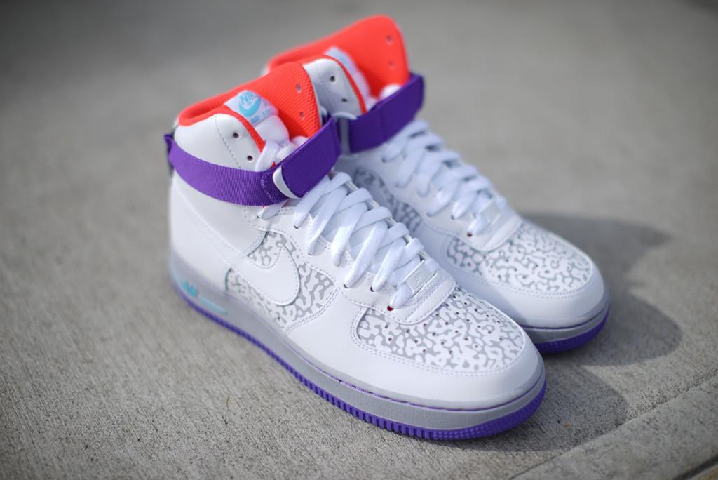 super popular 4cc4f 0c5b3 Nike Air Force 1 High  07 White Purple-Orange   Nice Kicks