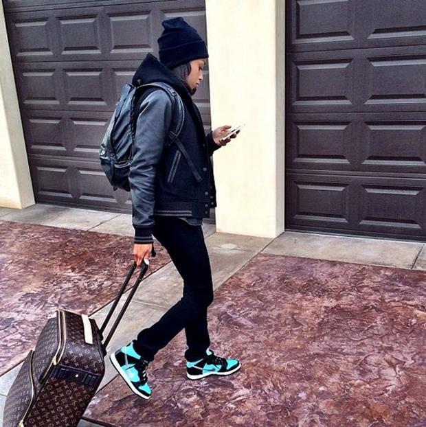 """Allyson Felix in the Nike SB Dunk High """"Tiffany"""""""