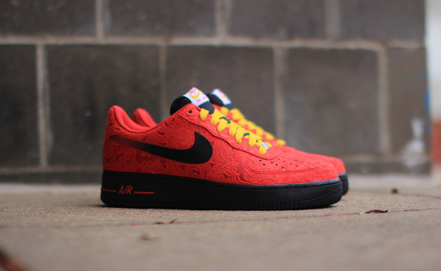 red nike air force ones