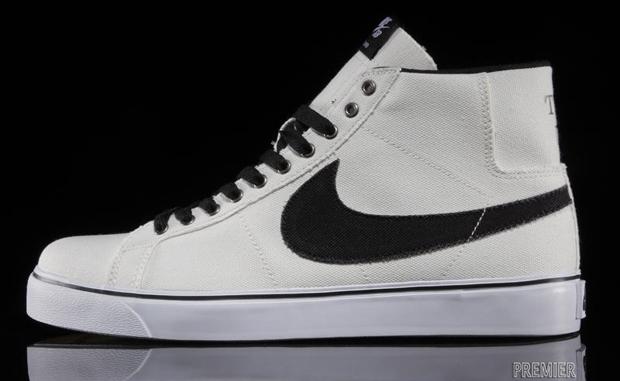 Nike Blazer Contraste Élevé Noir Et Blanc