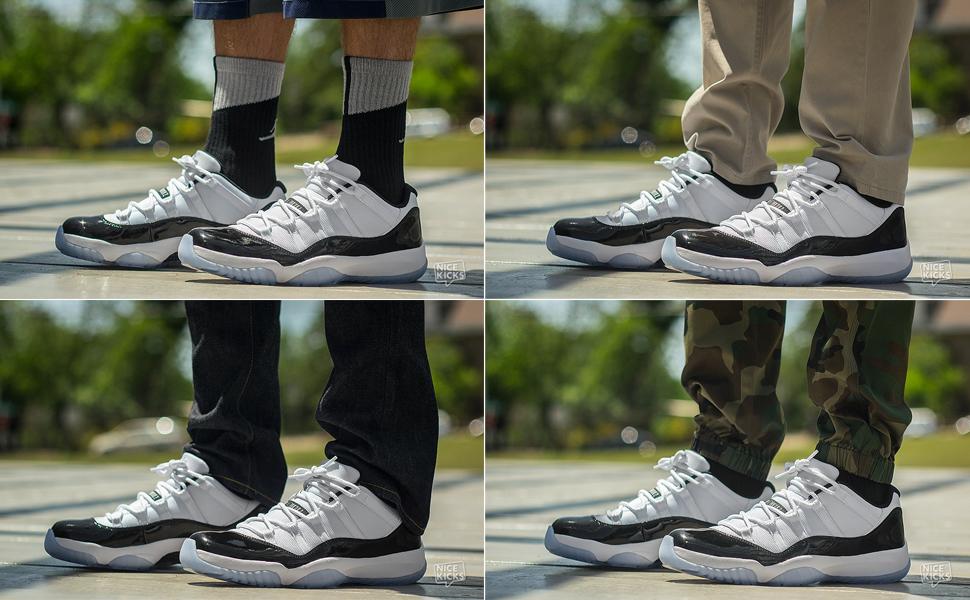 On Foot Look Air Jordan 11 Low Concord Nice Kicks