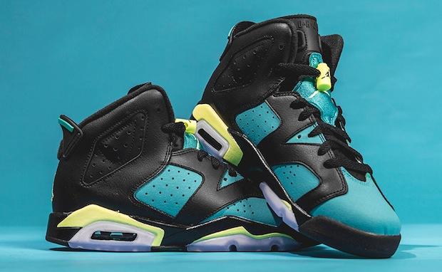Air Jordan 6 Green Blue