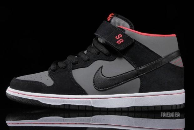 Nike SB Dunk Mid Pro Black Medium Base Grey