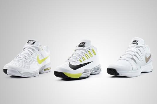 Nike Lunar Ballistec, Nike Zoom Vapor 9.5 Tour, and Nike Air Max Cage