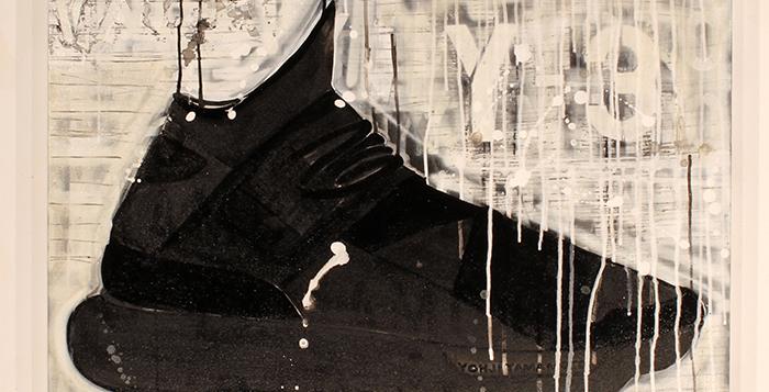 adidas Y-3 Qasa High Painting by Shannon Favia