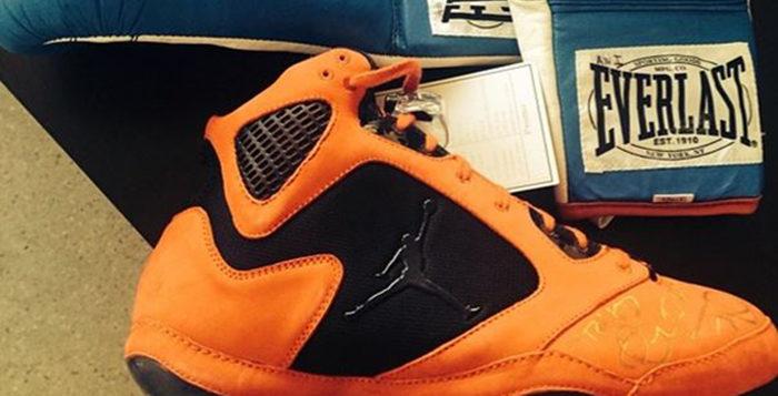 Kevin Durant Shares a Look at Andre Ward's Jordan Boxing Boot