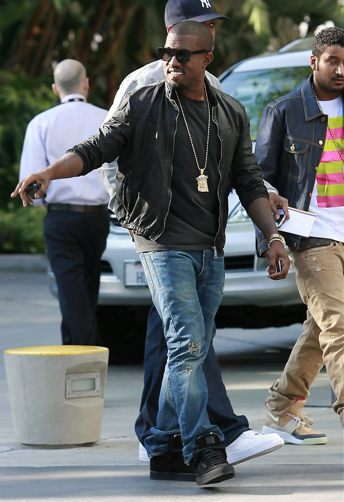 Kanye West in the Louis Vuitton Don