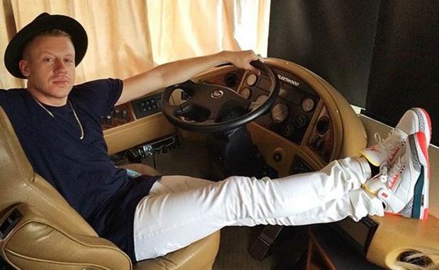 Macklemore Wears Solefly x Air Jordan 3