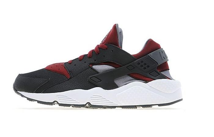 Nike Air Huarache Black Red Grey