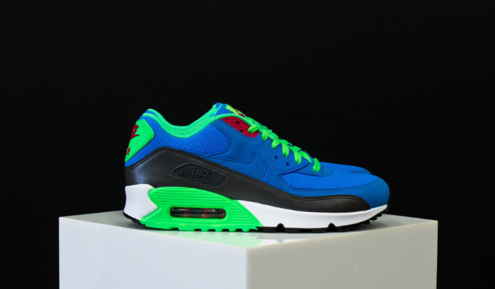 Nike Air Max 90 Essential Blue/Green-Black | Nice Kicks