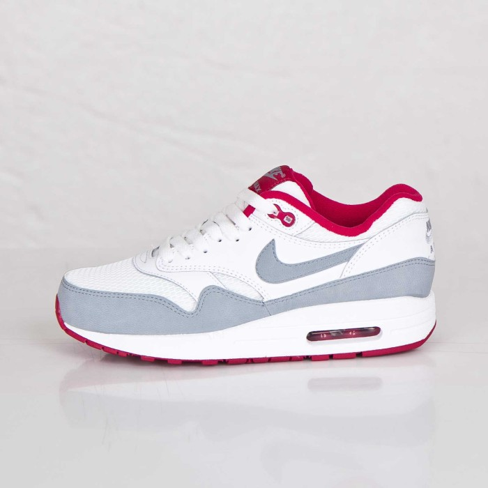 Nike Vêtements De Sport Air Max 1 Essentiel - Basket - Blanc / Rose / Gris