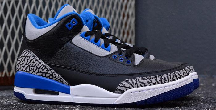 blue 3s jordans