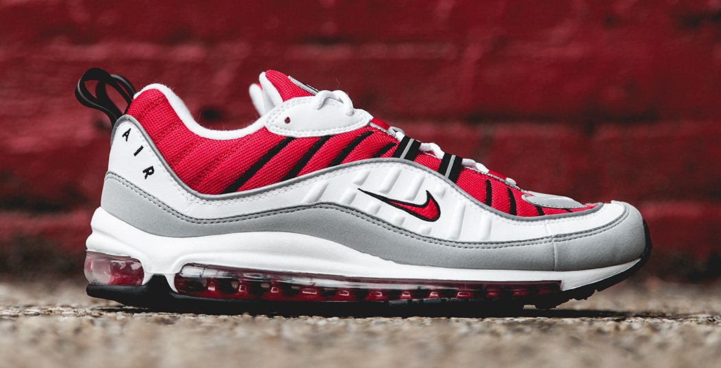 nike air max 98 university red nice kicks. Black Bedroom Furniture Sets. Home Design Ideas