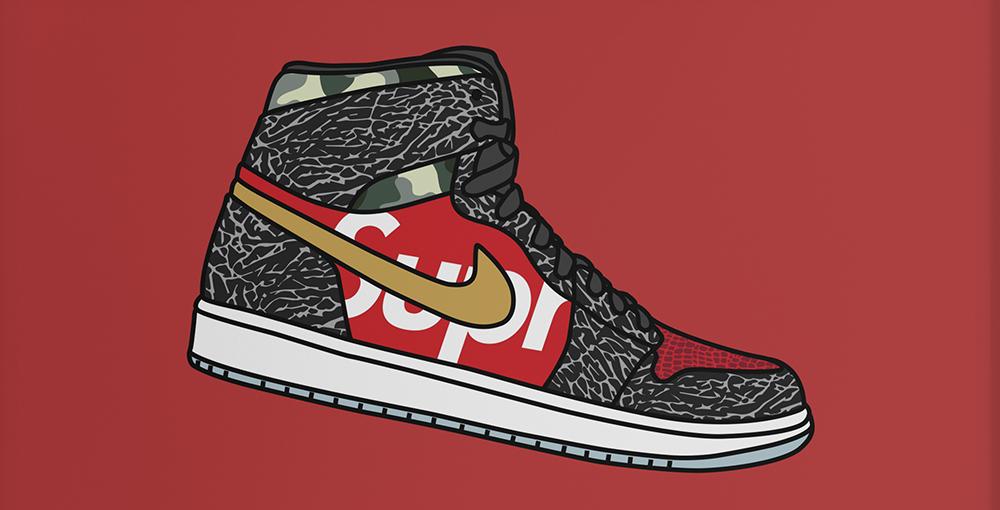 What The Supreme Nike SB x Air Jordan 1 Print
