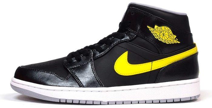Air Jordan 1 Mid Black/Yellow | Nice Kicks