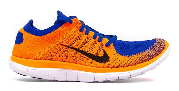 nike free run 4.0 orange and blue