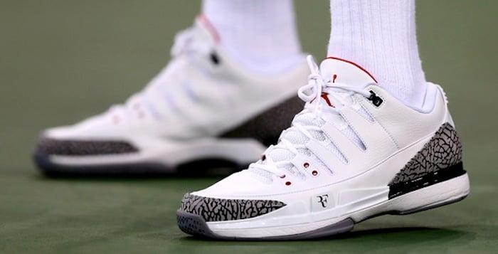 Labe tarjeta Pedir prestado  Roger Federer debuts NikeCourt Zoom Vapor AJ3 by Jordan | Nice Kicks