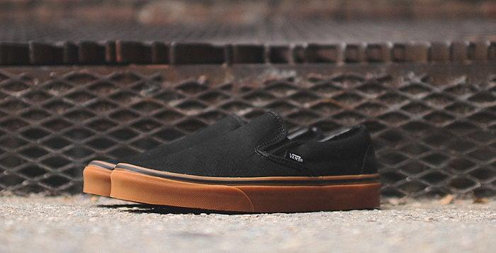 Vans Slip-On Black/Gum   Nice Kicks