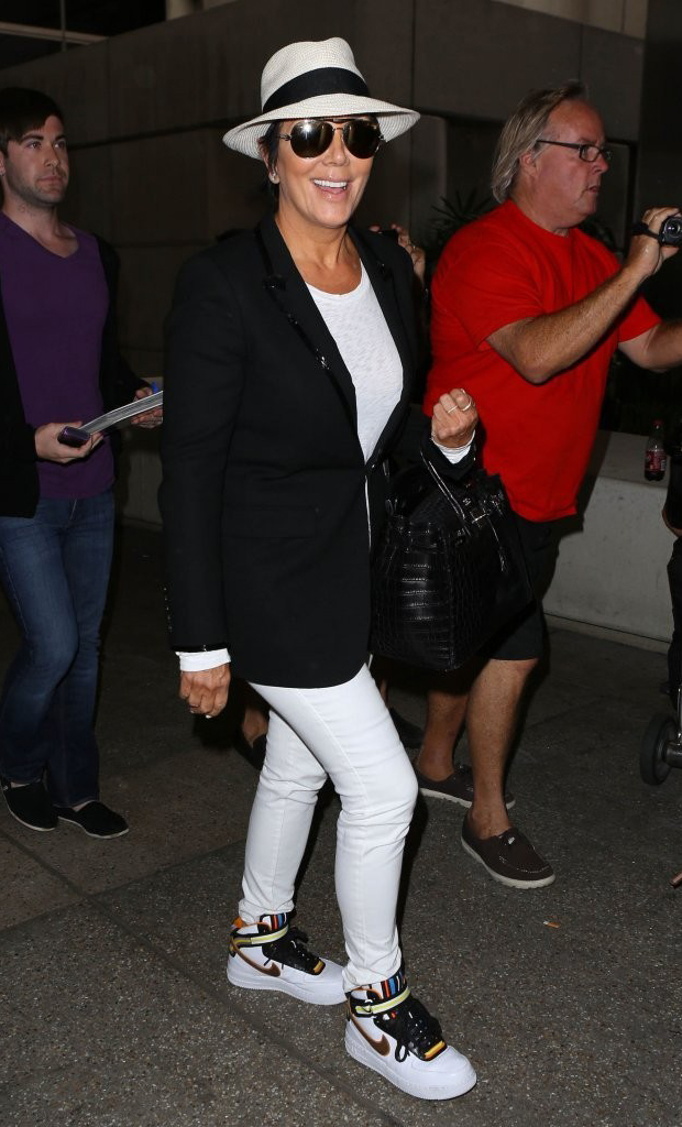 Kris Jenner in the Nike RT Air Force 1